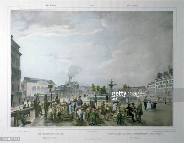 Diorama de Louis Daguerre sur la place de la République à Paris au XIXè siècle France