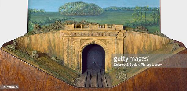 Diorama model of the west portal of the Box Tunnel on the Great Western Railway between London and Bristol designed by Isambard Kingdom Brunel The...