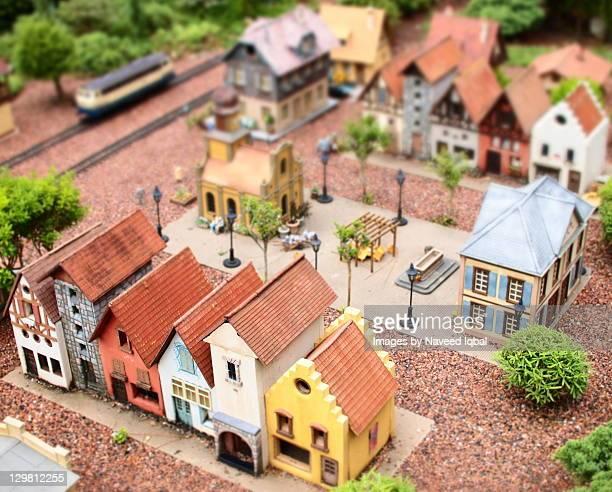 Diorama of german town at epoot orlando