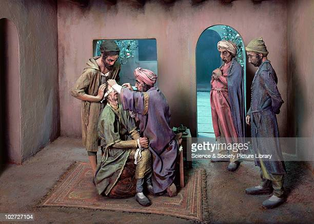 Diorama showing an operation to remove a cataract in eleventhcentury Persia United Kingdom 197880 Lower Wellcome Gallery diorama showing operation...