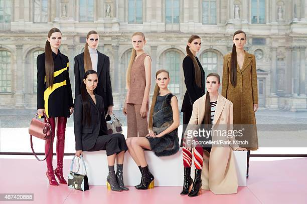 Dior's ready-to-wear autumn/winter 2015 collection goes on the catwalk at the Chateau du Louvre in Paris on March 06, 2015.