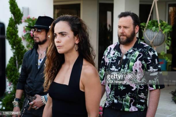 SOUTH Diosa de la Guerra Episode 412 Pictured Joseph T Campos as Boaz Jimenez Alice Braga as Teresa Mendoza Ryan O'Nan as King George
