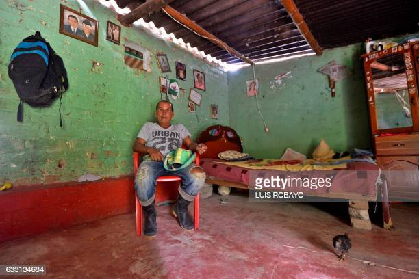 Diositeo Matitui a 67yearold coca grower poses for a photo in his house in a rural area of Policarpa department of Narino Colombia on January 15 2017...