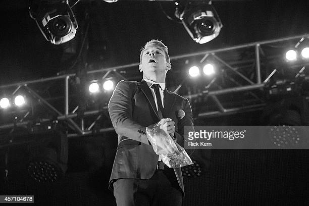 DJ Diplo aka Thomas Wesley Pentz of Major Lazer performs on stage during weekend two day two of Austin City Limits Music Festival at Zilker Park on...
