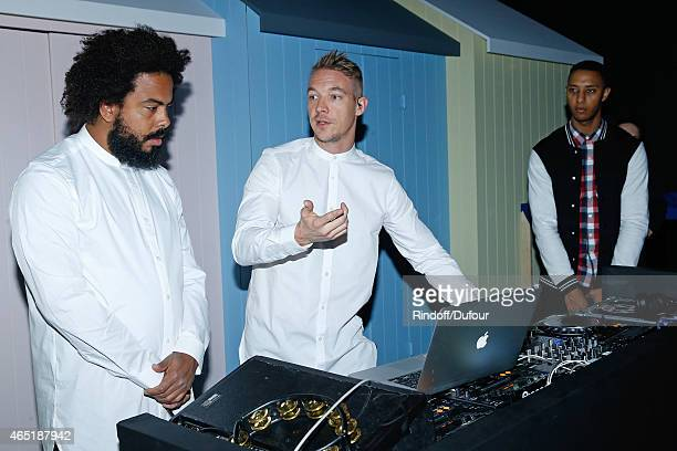 Diplo alias Wesley Pentz and The Group Major Lazer perform during the rehearsals of the ETAM show as part of the Paris Fashion Week Womenswear...