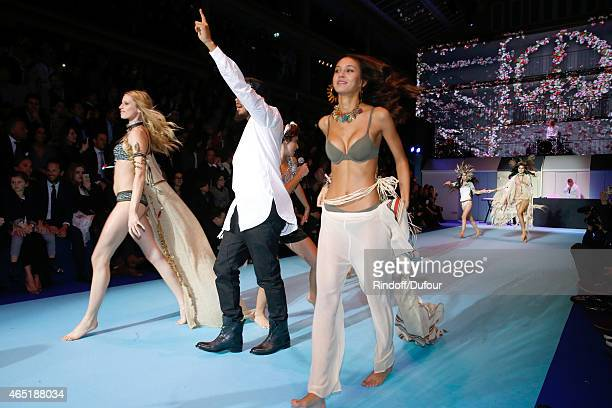 Diplo alias Wesley Pentz and The Group Major Lazer perform during the ETAM show as part of the Paris Fashion Week Womenswear Fall/Winter 2015/2016...