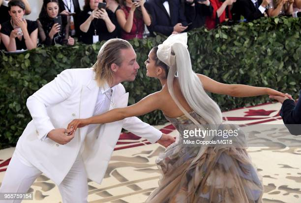 Diplo and Ariana Grande attend the Heavenly Bodies Fashion The Catholic Imagination Costume Institute Gala at The Metropolitan Museum of Art on May 7...