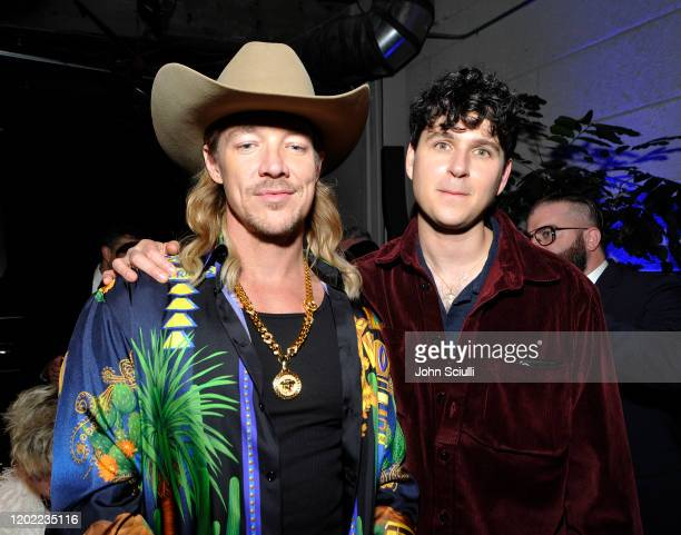 Diplo and Ezra Koenig of Vampire Weekend attend the Sony Music Entertainment 2020 PostGrammy Reception at NeueHouse Hollywood on January 26 2020 in...
