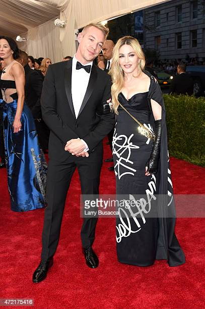 Diplo and Madonna attend the 'China Through The Looking Glass' Costume Institute Benefit Gala at the Metropolitan Museum of Art on May 4 2015 in New...