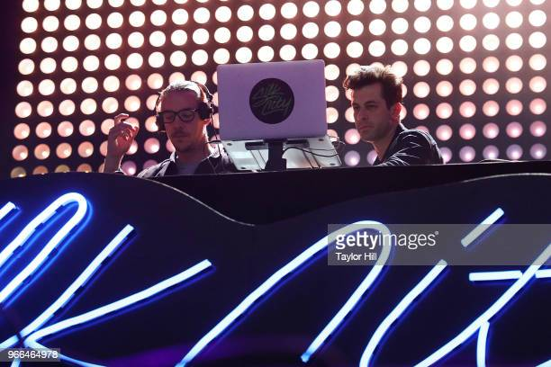 Diplo and Mark Ronson of Silk City perform onstage during Day 2 of 2018 Governors Ball Music Festival at Randall's Island on June 2 2018 in New York...