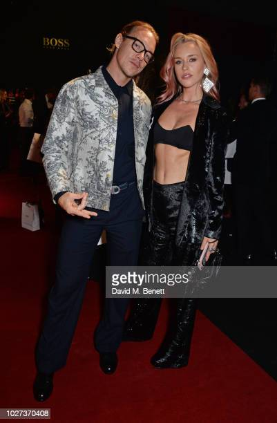 Diplo and Mary Charteris attend the GQ Men of the Year Awards 2018 in association with HUGO BOSS at Tate Modern on September 5 2018 in London England