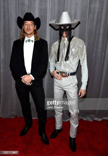 Diplo and Orville Peck attend the 62nd Annual GRAMMY Awards at STAPLES Center on January 26, 2020 in Los Angeles, California.
