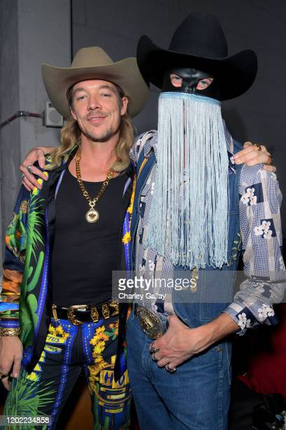 Diplo and Orville Peck attend the Sony Music Entertainment 2020 PostGrammy Reception at NeueHouse Hollywood on January 26 2020 in Los Angeles...