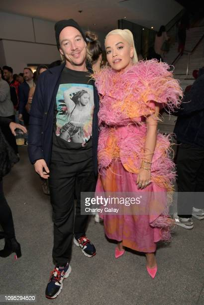 Diplo and Rita Ora attend Spotify Best New Artist 2019 party at Hammer Museum on February 7 2019 in Los Angeles California