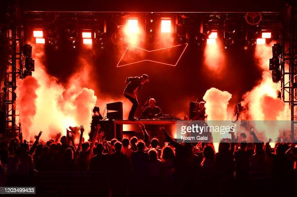 Diplo and Walshy Fire of Major Lazer perform onstage Night Two of BUDX Miami by Budweiser on February 02, 2020 in Miami Beach, Florida.