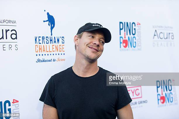 Diplo attends Clayton Kershaw's 4th annual 'Ping Pong 4 Purpose Celebrity Tournament' at Dodger Stadium on August 11 2016 in Los Angeles California