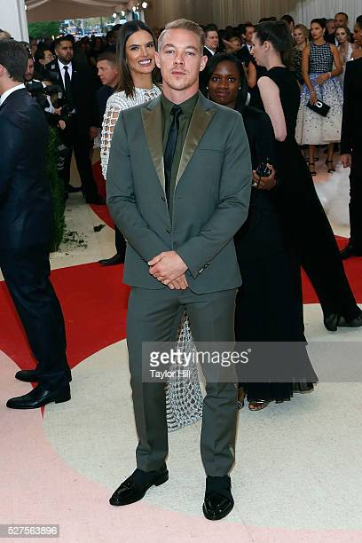 Diplo attends 'Manus x Machina Fashion in an Age of Technology' the 2016 Costume Institute Gala at the Metropolitan Museum of Art on May 02 2016 in...