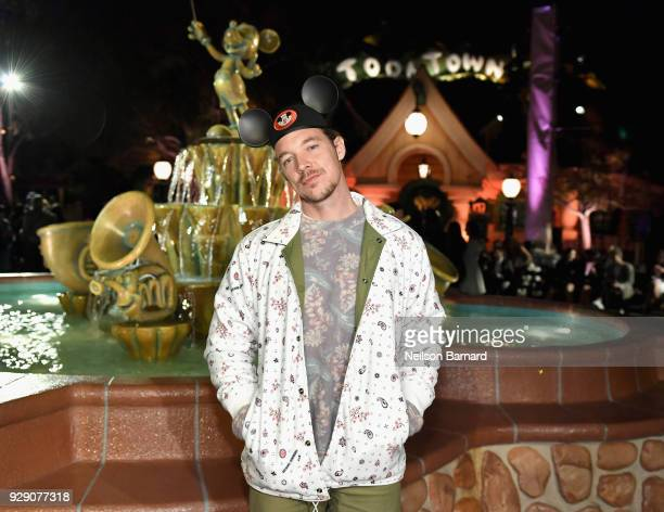 Diplo attends the launch of Mickey the True Original campaign in celebration of Mickey's 90th anniversary with a fashion show featuring a...