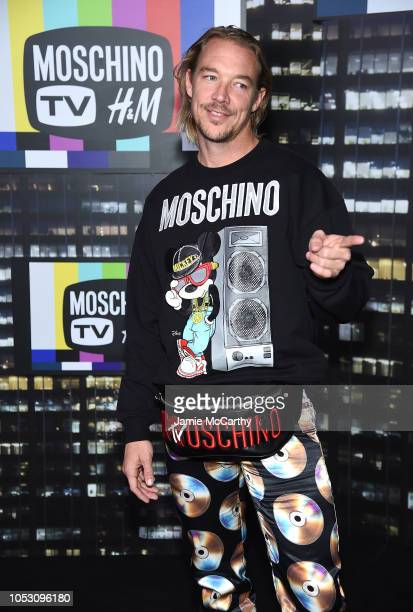 Diplo attends the Moschino x HM runway at Pier 36 on October 24 2018 in New York City