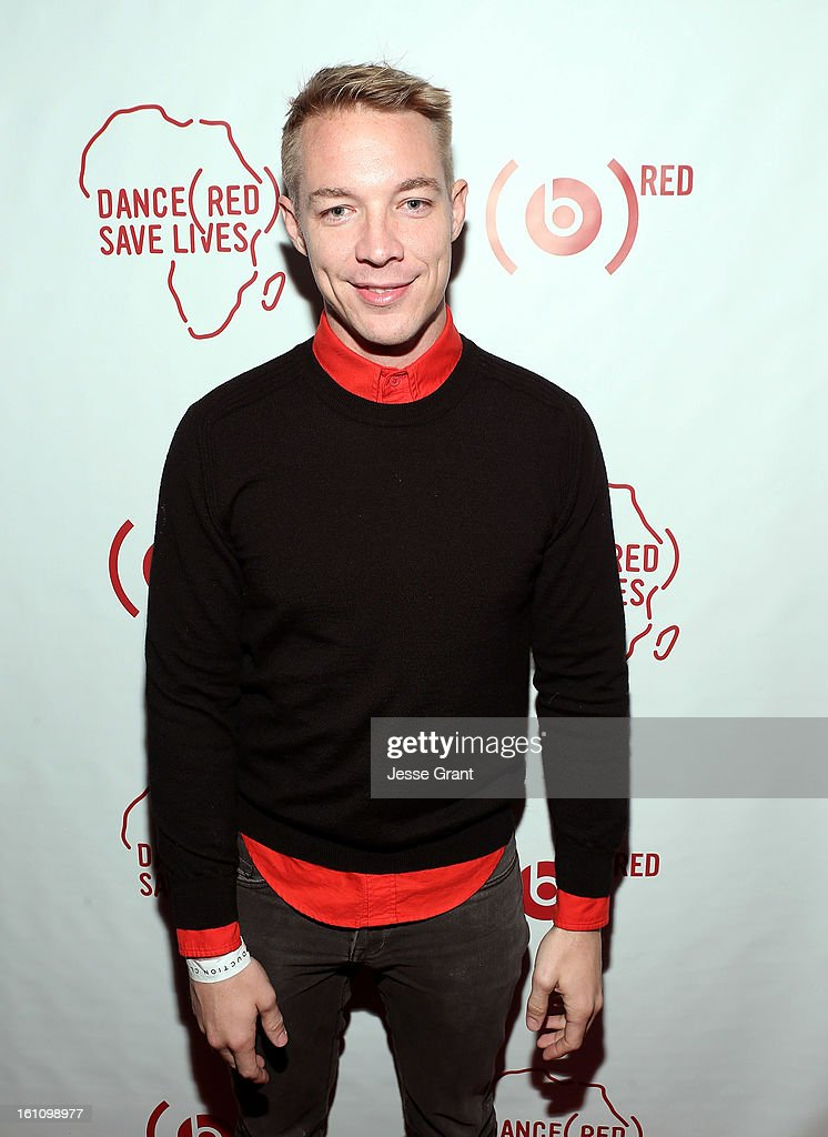 Diplo attends the Skrillex, Diplo, Kaskade, Nero And Tommy Trash Perform Live, Supporting DANCE (RED), SAVE LIVES presented by Beats by Dr. Dre event at the AT&T Center on February 8, 2013 in Los Angeles, California.