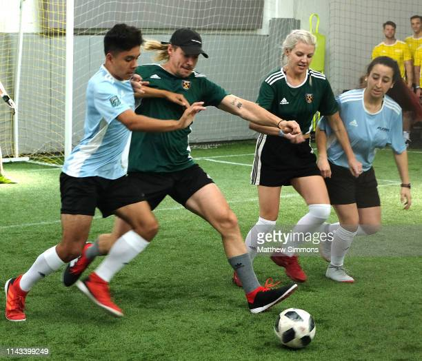 Diplo competes during the Copa Del Rave Charity Soccer Tournament at Evolve Project LA on April 17 2019 in Los Angeles California