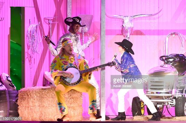Diplo, Lil Nas X , and Mason Ramsey perform onstage during the 62nd Annual GRAMMY Awards at STAPLES Center on January 26, 2020 in Los Angeles,...