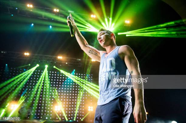 Diplo of Major Lazer performs at Brixton Academy on November 9 2013 in London England