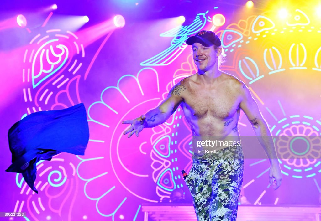 Diplo of Major Lazer performs at Piestewa Stage during day 3 of the 2017 Lost Lake Festival on October 22, 2017 in Phoenix, Arizona.