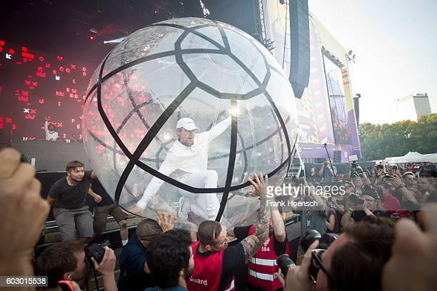 Diplo of Major Lazer performs live on stage during second day of Lollapalooza Festival at the Treptower Park on September 11 2016 in Berlin Germany