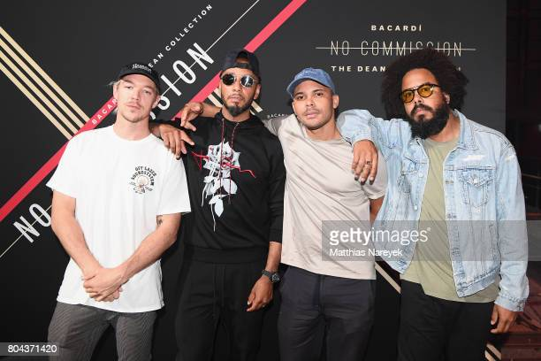 Diplo of Major Lazer Swizz Beatz Walshy Fire and Jillionaire of Major Lazer attend Bacardi X The Dean Collection Present No Commission Berlin on June...