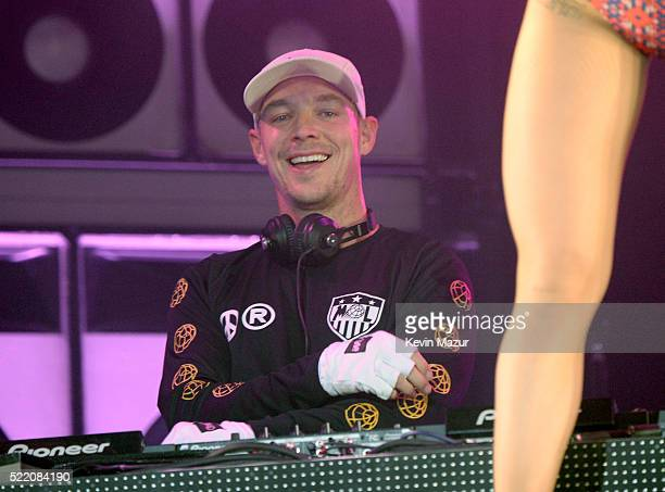 Diplo performs during Major Lazer onstage during day 3 of the 2016 Coachella Valley Music And Arts Festival Weekend 1 at the Empire Polo Club on...