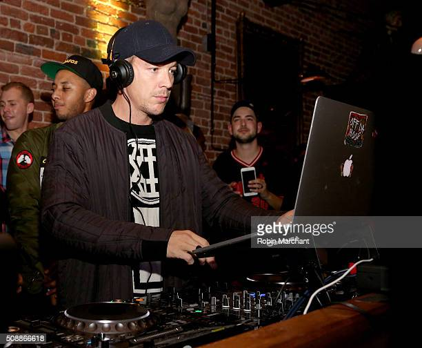 Diplo performs during the New Era Super Bowl party at The Battery on February 6 2016 in San Francisco California