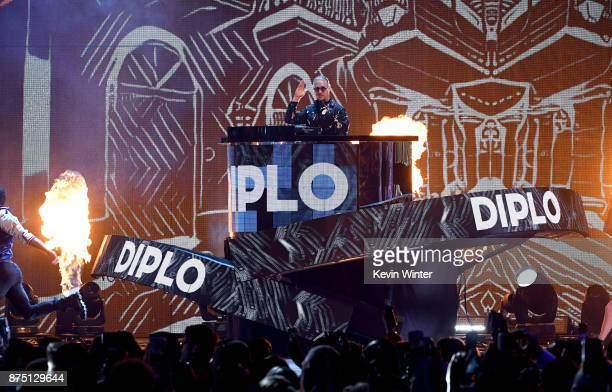 Diplo performs onstage at the 18th Annual Latin Grammy Awards at MGM Grand Garden Arena on November 16, 2017 in Las Vegas, Nevada.