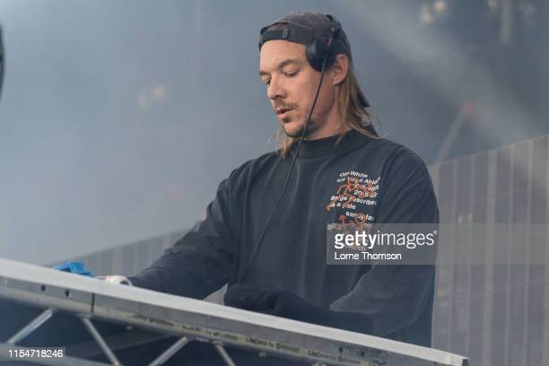 Diplo performs onstage during Field Day Festival 2019 at Meridian Water on June 08 2019 in London England