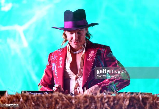 Diplo performs onstage during the 2019 Stagecoach Festival at Empire Polo Field on April 28 2019 in Indio California