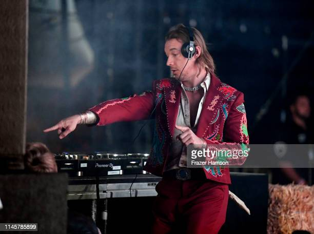 Diplo performs onstage during the 2019 Stagecoach Festival at Empire Polo Field on April 28, 2019 in Indio, California.