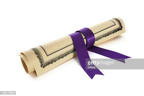Diploma con cinta