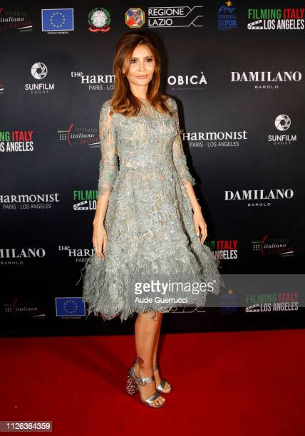 Diplomat and philanthropist Lola KarimovaTillyaeva attends the Filming In Italy event at the Italian Cultural Institute Of Los Angeles on January 30...