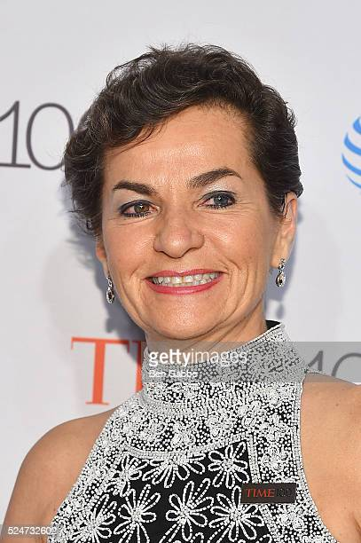 Diplomat Christiana Figueres attends 2016 Time 100 Gala, Time's Most Influential People In The World red carpet at Jazz At Lincoln Center at the...
