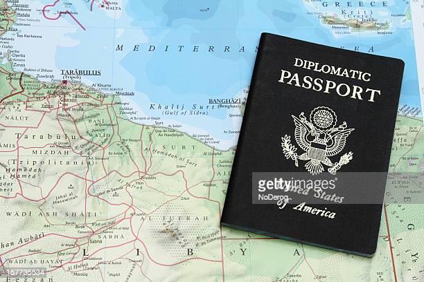 Diplomatic passport on Libya, North Africa