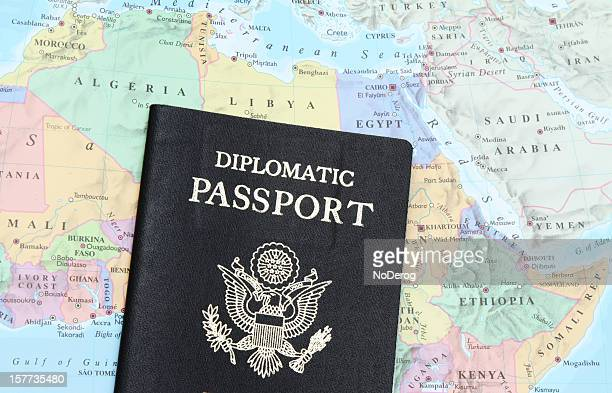 Diplomatic passport on North Africa and Mid East