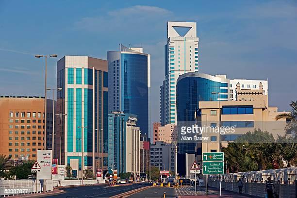 diplomatic quarter of manama - bahrain stock-fotos und bilder