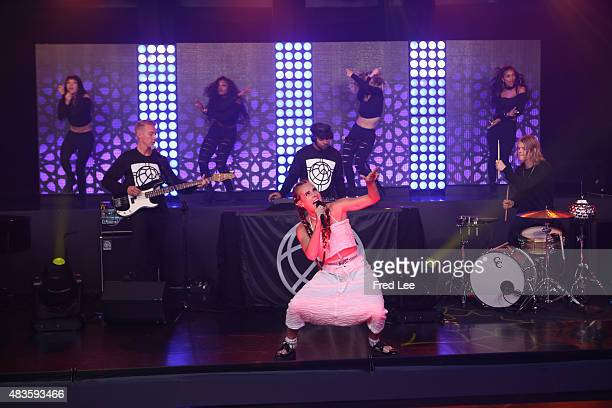 AMERICA Diplo's Major Lazer Feat DJ Snake and Mo perform on GOOD MORNING AMERICA 8/10/15 airing on the Walt Disney Television via Getty Images...
