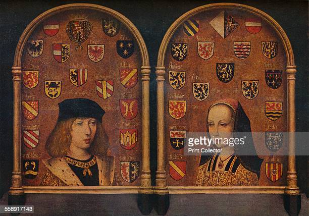 'Diptych Philip the Handsome and Margaret of Austria' c1493 Philip the Handsome became Philip I of Castile Margaret of Austria became Regent of the...