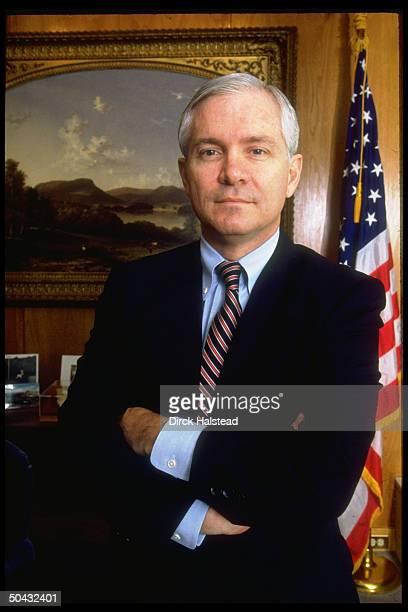 CIA Dir Robert Gates in his office at Langley HQ
