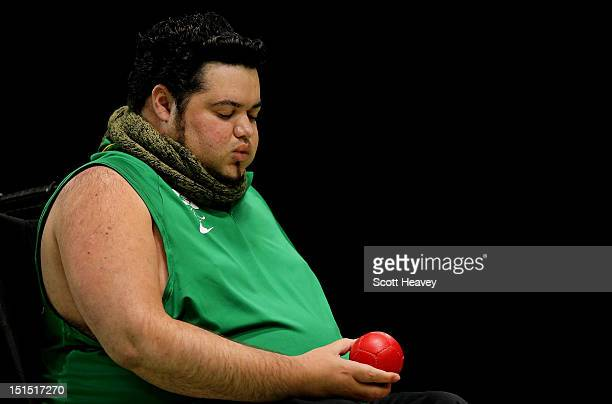 Dirceu Jose Pinto of Brazil in action during the Individual BC4 Boccia Gold Medal Match against Yuansen Zheng of China on day 10 of the London 2012...