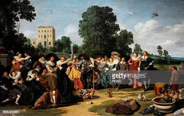 Dirck Hals Dutch painter The Fete Champetre 1627 Rijksmuseum Amsterdam Holland