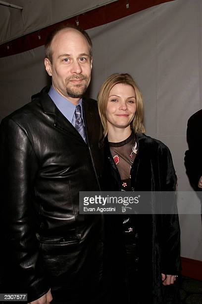 Dirctor/actor Terry Kinney with wife Kathryn Erbe arrive at the opening night party for 'One Flew Over The Cuckoo's Nest' at Tavern on the Green in...