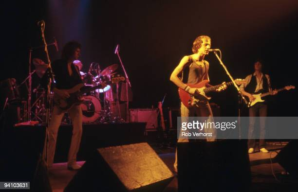 Dire Straits perform live on stage at Schouwburg Rotterdam Holland on October 19 1978 LR John Illsley Pick Withers Mark Knopfler David Knopfler