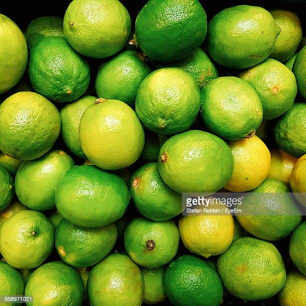 Direct Above View Of Limes